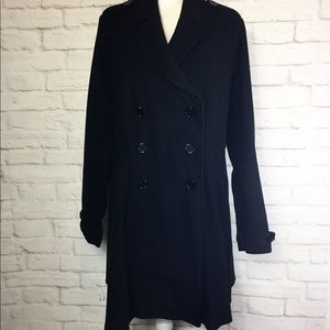 Torrid Black Ponte Swing/Trench Coat